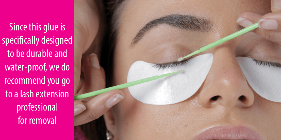 how to remove eyelashes