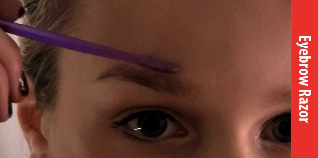 how to use eyebrow razor