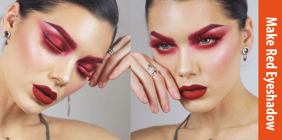 how to make red eyeshadow