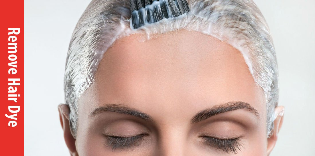 how to remove the hair color from the skin